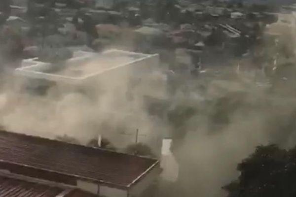 Incendie à Martinique 1ère, ex locaux de Clairière
