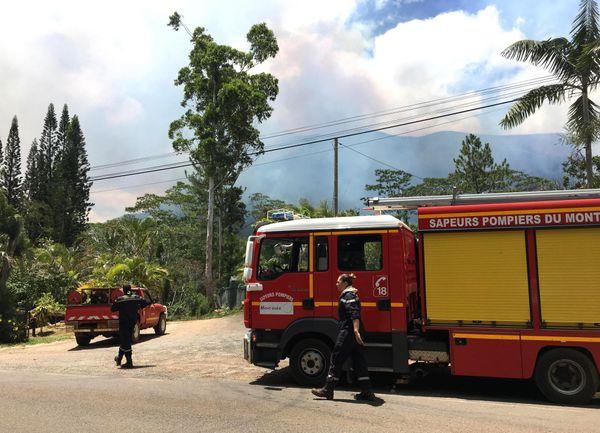 Incendie de Mouirange, pompiers du Mont-Dore (11 janvier 2018)