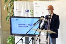 Le préfet de la Martinique, Stanislas Cazelles, conférence de presse du 28 juillet 2021