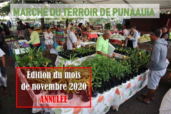 Le marché du terroir de Punaauia est annulé