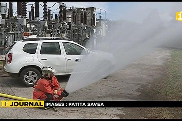 Exercice anti incendie à la centrale thermique EDT du centre ville