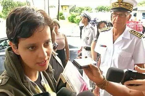 La ministre des Droits des femmes, Najat Vallaud-Belkacem, en déplacement à La Réunion le 22 février 2013