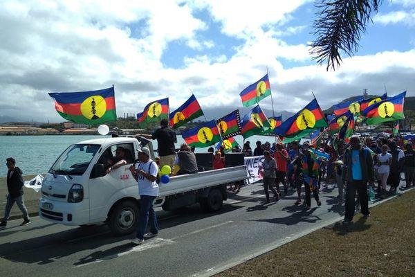 Manifestation des jeunes pour le oui
