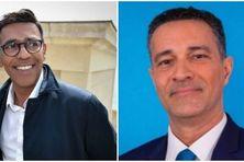 Les  députés européens des Outre-mer: Younous Omarjee (La France insoumise) et Stéphane Bijoux (LREM)