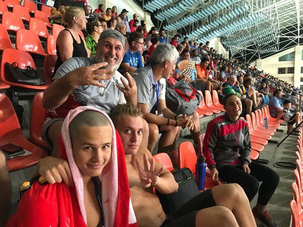 Samoa 2019, finales de natation du 12 juillet, gradins