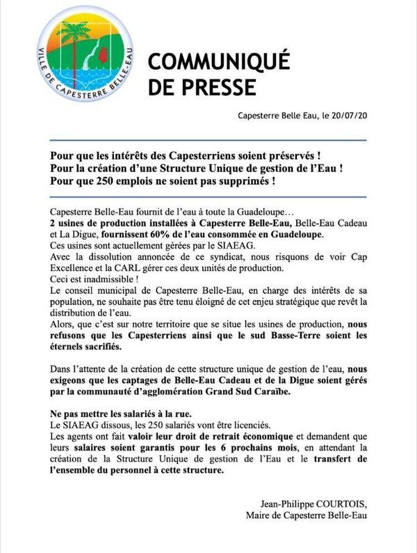 Communiqué Jean- Philippe Courtois/ SIAEAG