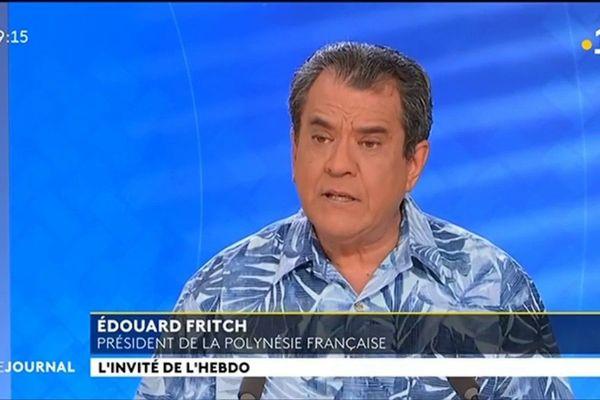 Edouard Fritch : « le seul combat c'est celui de l'alcool et du sucre »