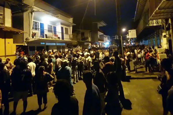 Les manifestants de la rue Mme Payé