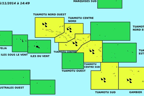 Amélioration aux ISLV, vigilance jaune aux Tuamotu-Gambier