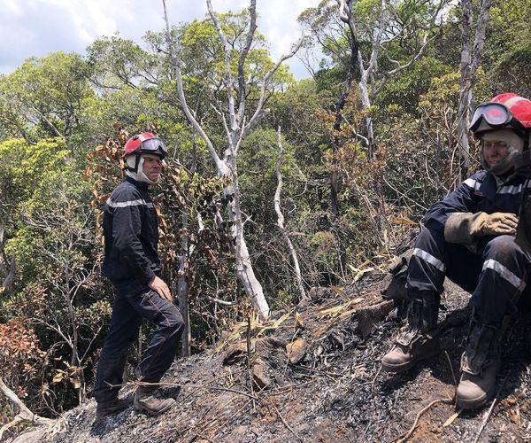 Feu du Mont-Dore, détachement d'intervention héliporté, 3 décembre 2019
