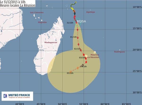 Bejisa est 870 km de La Réunion