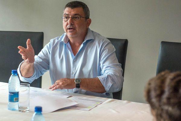Philippe Germain présentant les conséquences de la TGC, le 21 mars 2019