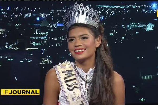 Miss Tahiti 2015, Vaimiti Teiefitu était l'invitée du journal