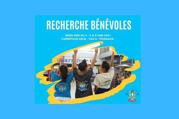 Saga 2021 : bénévoles pour l'opération Carrefour Tahiti