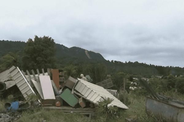 Passage de la tempête Fehi dans l'île du Sud de la Nouvelle-Zélande, début 2018