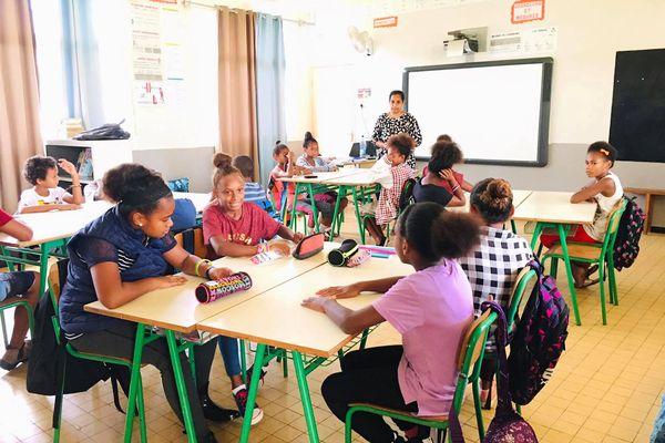 Rentrée du 22 février à l'école de Wani, 2021, Houaïlou