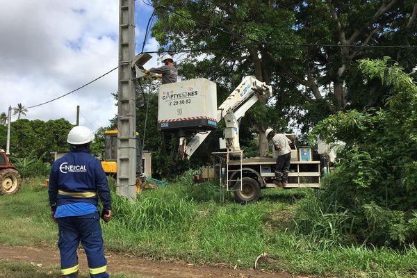 remise en service electricité enercal niran