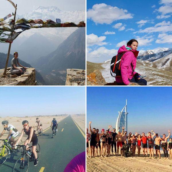 Grande sportive, Ambre multiplie les treks, les triathlons et marathons à travers le monde. Activités qu'elle continue de faire à Dubaï