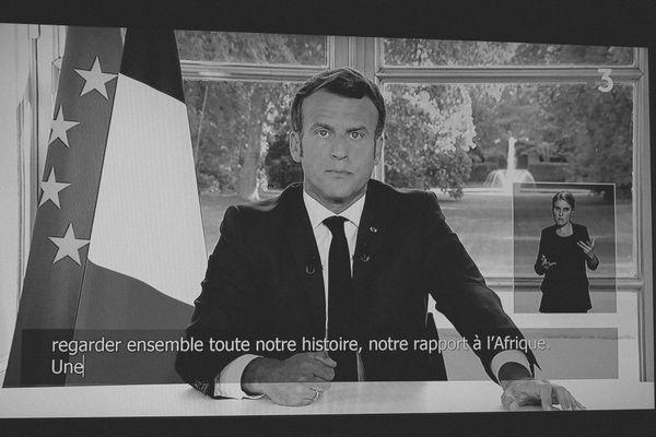 allocution télévisée d'Emmanuel Macron, 14 juin 2020, capture d'écran