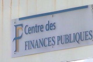 Impôts : enseigne centre des finances publiques