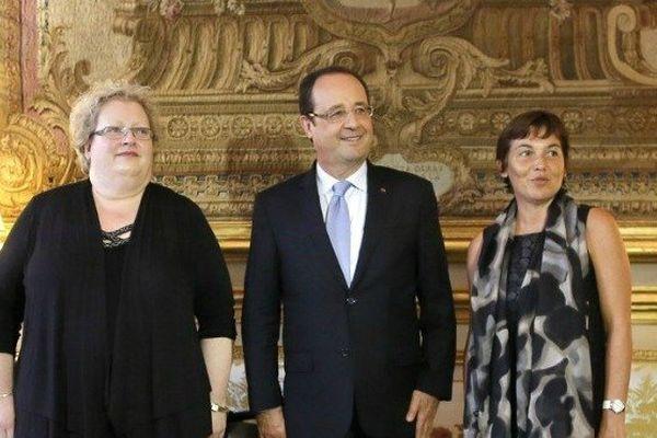 photo avec hollande et deux élus