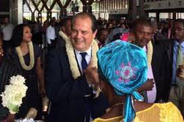 Arrivée Cambadélis à Mayotte