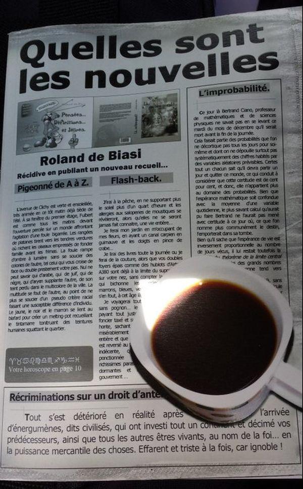 Livre roland de biasi : quelles sont les nouvelles .Jpeg