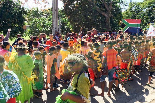 Premier carnaval des écoles à Houaïlou, 7 août 2018