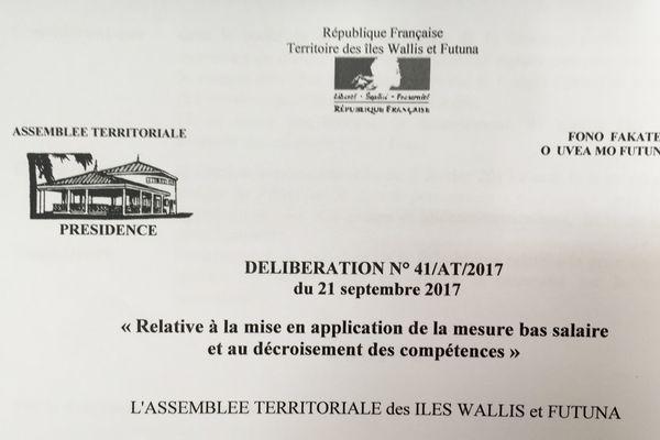 mesure bas salaires adoptée par l'Assemblée Territoriale