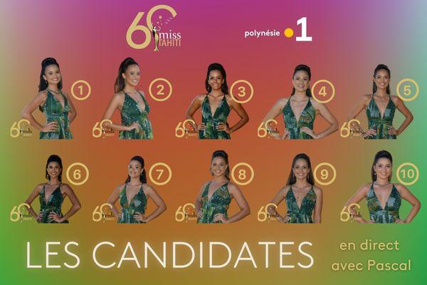 Les candidates en direct avec Pascal