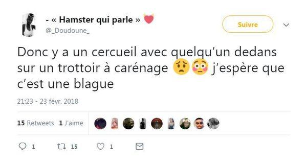 Tweet cercueil Carénage