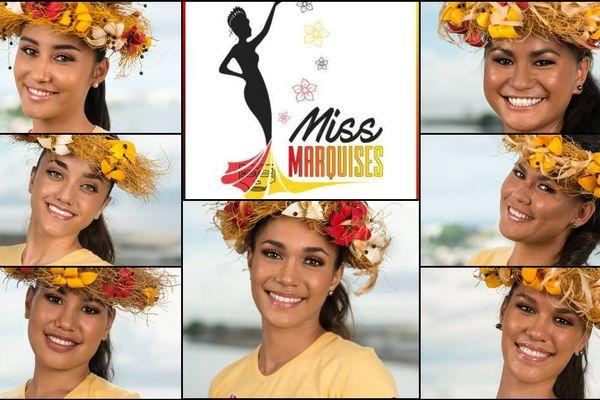 Les 7 candidates à l'élection Miss Marquises 2017
