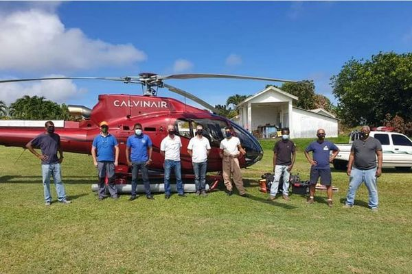 Saint-Vincent Grenadines helicoptère