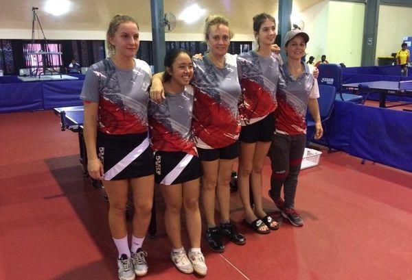 Samoa 2019, tennis de table par équipe, le bronze pour la NC