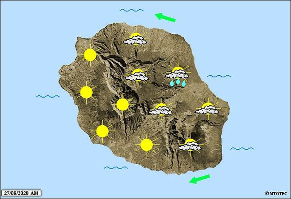 Carte météo 27 août 2020