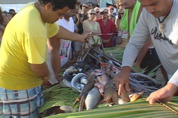 pêche Huahine pesée