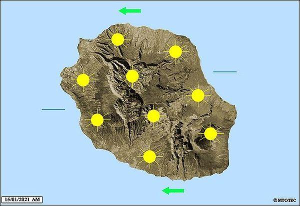 Carte météo 15 janvier 2021