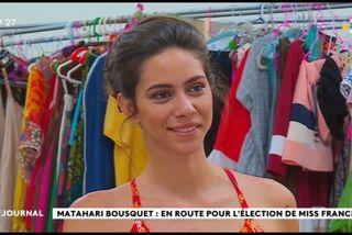 Matahari Bousquet en route pour l'élection de Miss France