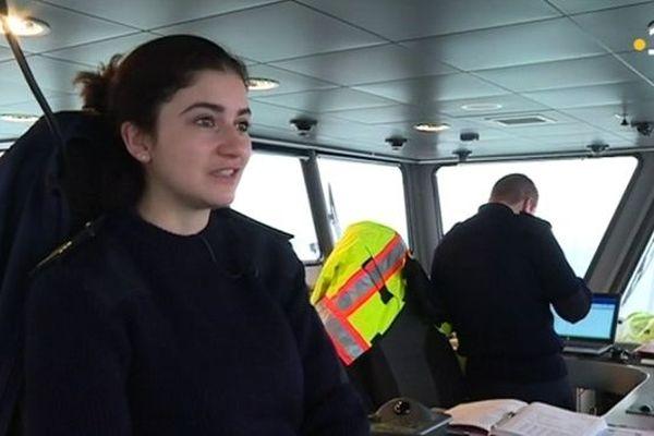 Vicky Herault  Second capitaine SPM Ferries