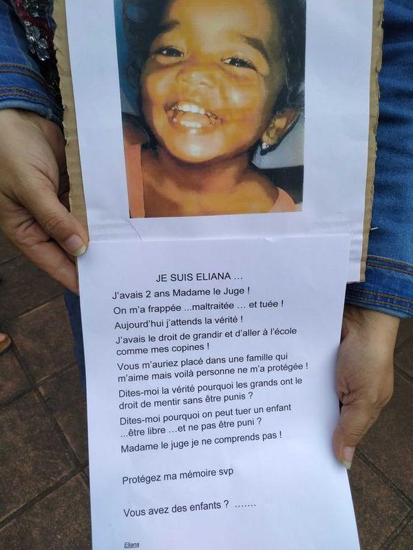 Eliana tuée par son ti père devant sa mère en 2018 à Saint-André