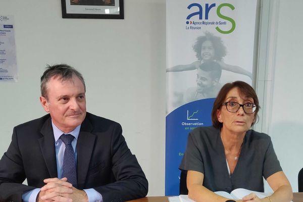Coronavirus : Jacques Billant (préfet de La Réunion) et Martine Ladoucette (directrice de l'ARS)