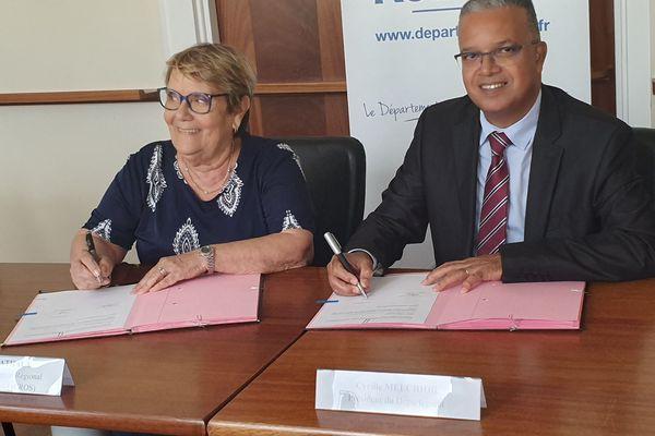 Signature entre le Département et le CROS