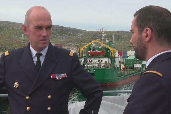 Visite sur le Fulmar du vice-amiral Arnaud Provost-Fleury