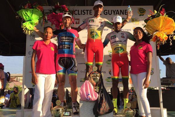 Le podium de la 9ème étape