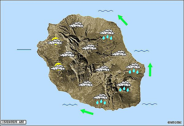 Carte météo 15 mars 2021
