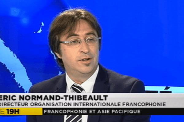 Eric Normand-Thibeault, directeur régional de l'organisation internationale de la Francophonie pour l'Asie et le Pacifique