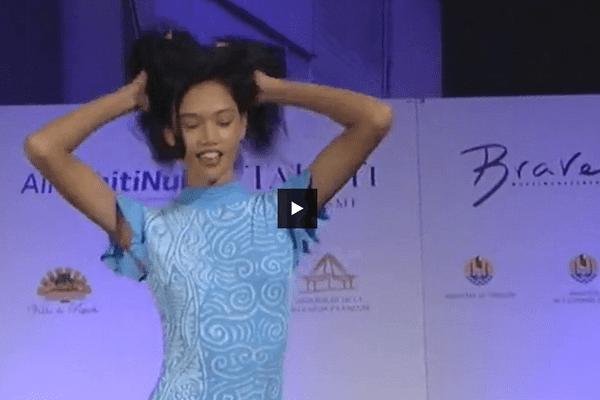 Heitiarii Wan triomphe à la Tahiti Fashion Week 2016
