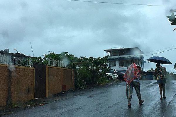 Météo pluvieuse sur l'île Maurice 22 janvier 2020