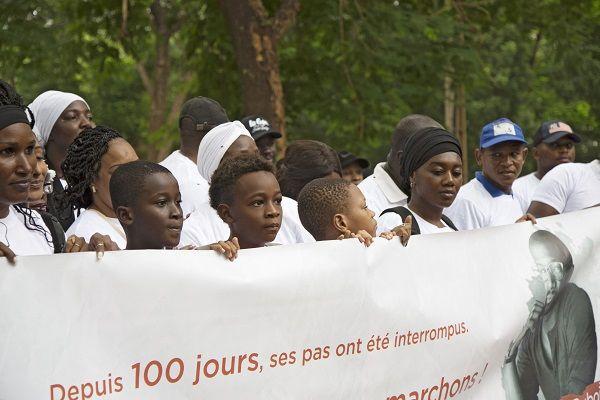 Manifestation à Bamako en soutien à Olivier Dubois