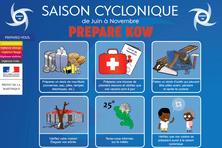 Kit d'urgence cyclone en Martinique.